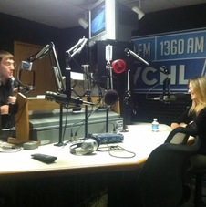 Ashley Warner at WCHL in Chapel Hill